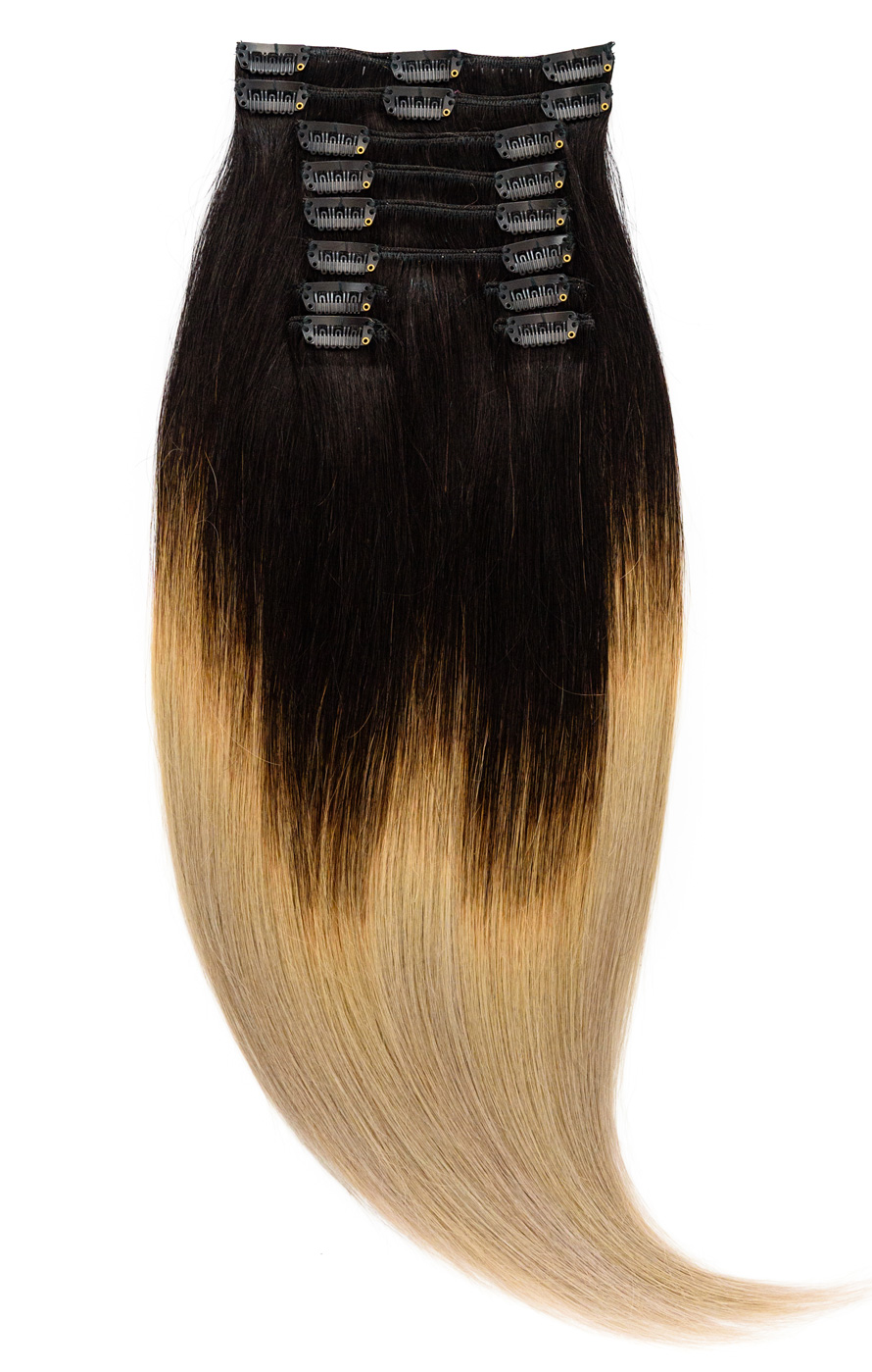Clip-On Ombre Negru - Blond Argintiu #T1/Grey - Diva