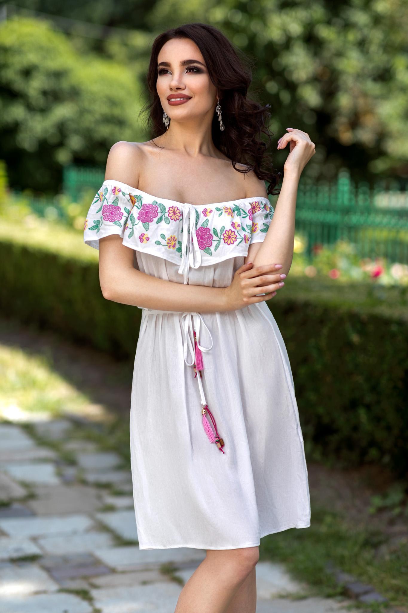 Rochie Nathalie Alba by zonia